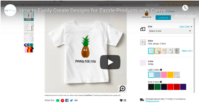Create Designs for Zazzle Products the Easy Way With Canva